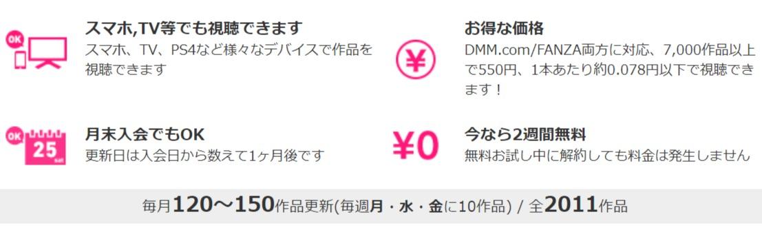 DMM見放題chライトのアダルト動画