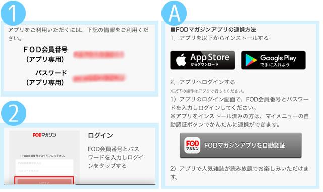 FODマガジンアプリの認証