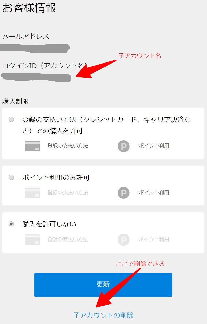 U-NEXT子アカウント削除