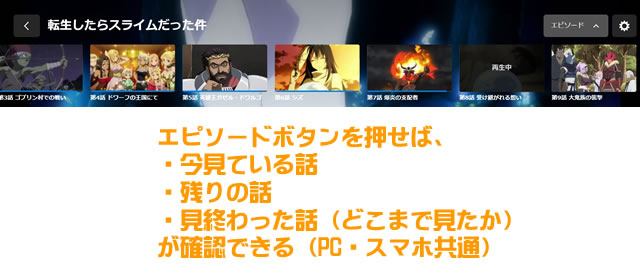 U-NEXTのエピソードボタン